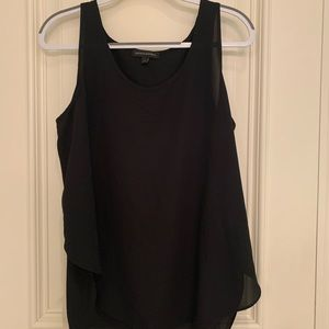 Banana Republic Black Cross Back Flowy Tank